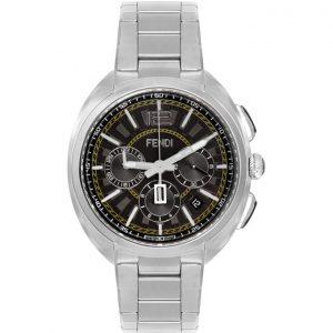 Fendi Silver Momento Fendi Chronograph Watch