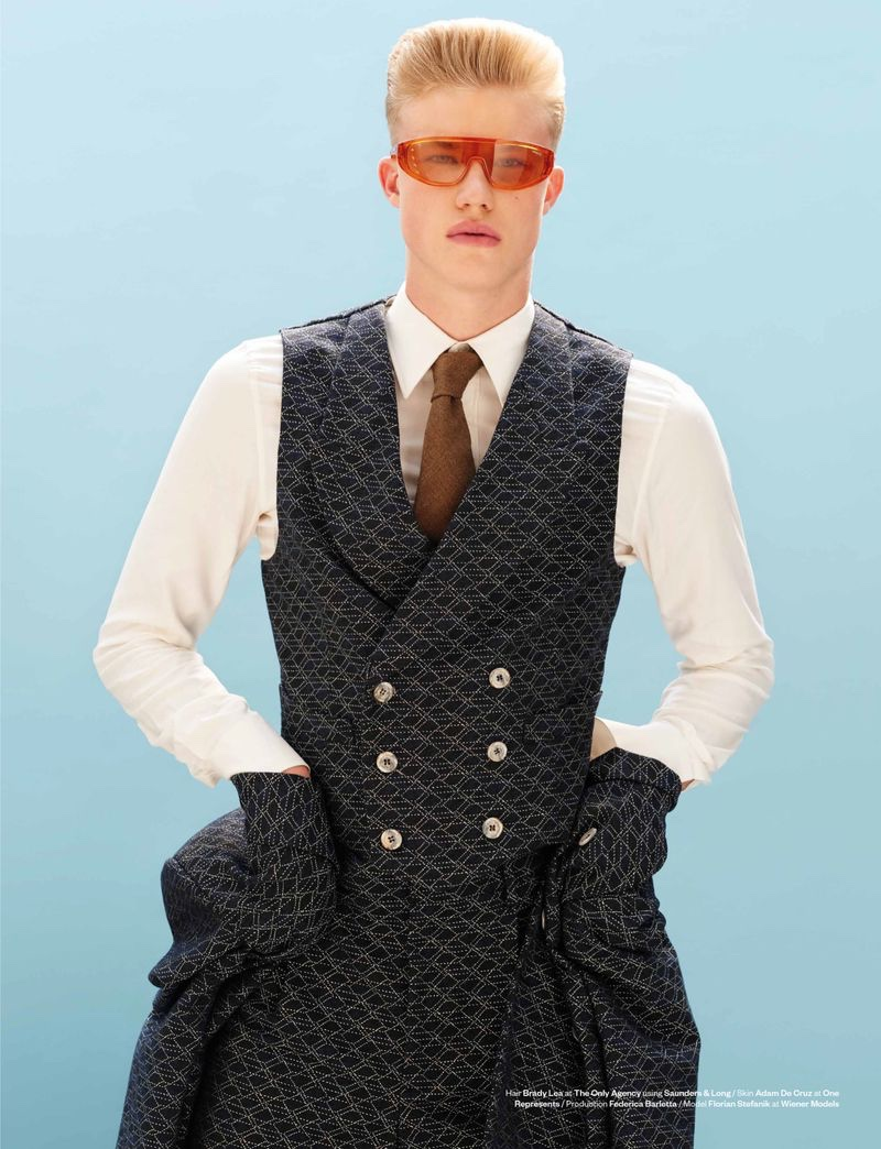 Florian Stefanik Dons Dandy Style for Man About Town