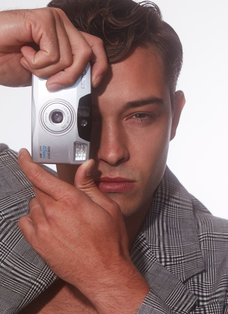 Francisco Lachowski Sports Vintage-Inspired Style for Issue Man