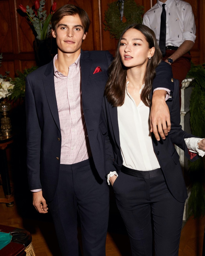 Parker van Noord and Bruna Tenorio appear in GANT's holiday 2019 campaign.