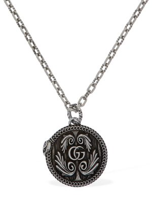 Gg Marmont Pendant Necklace W/ Snake