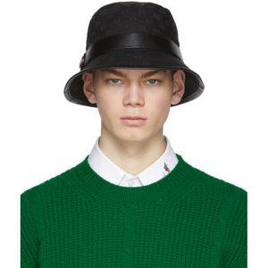 Gucci Black GG Supreme Bucket Hat