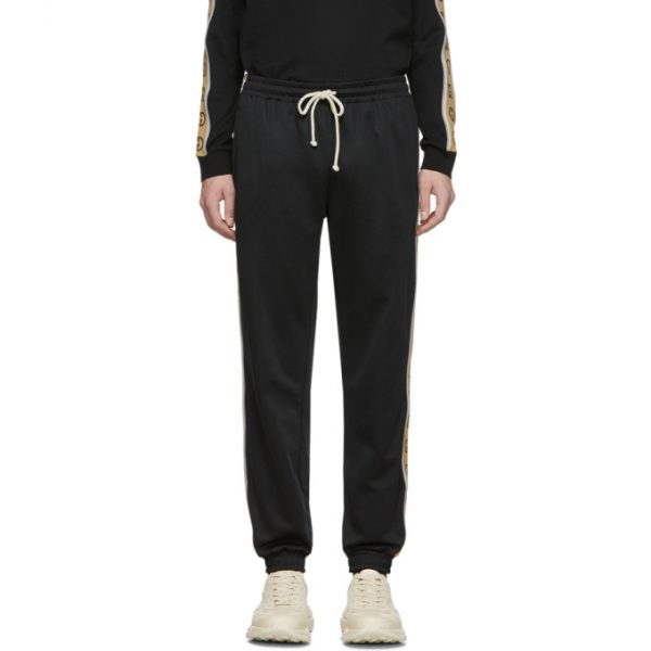 Gucci Black Technical Jersey Jogging Pants