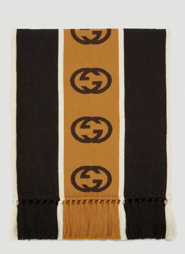 Gucci GG Knit Scarf in Black size One Size