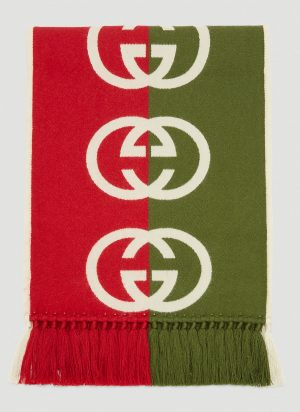 Gucci GG Scarf in Red size One Size