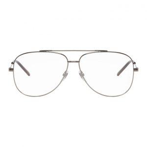 Gucci Silver Metal Round Glasses