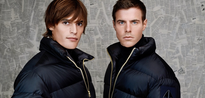 Parker van Noord and Jules Horn rock puffer jackets by Moose Knuckles.
