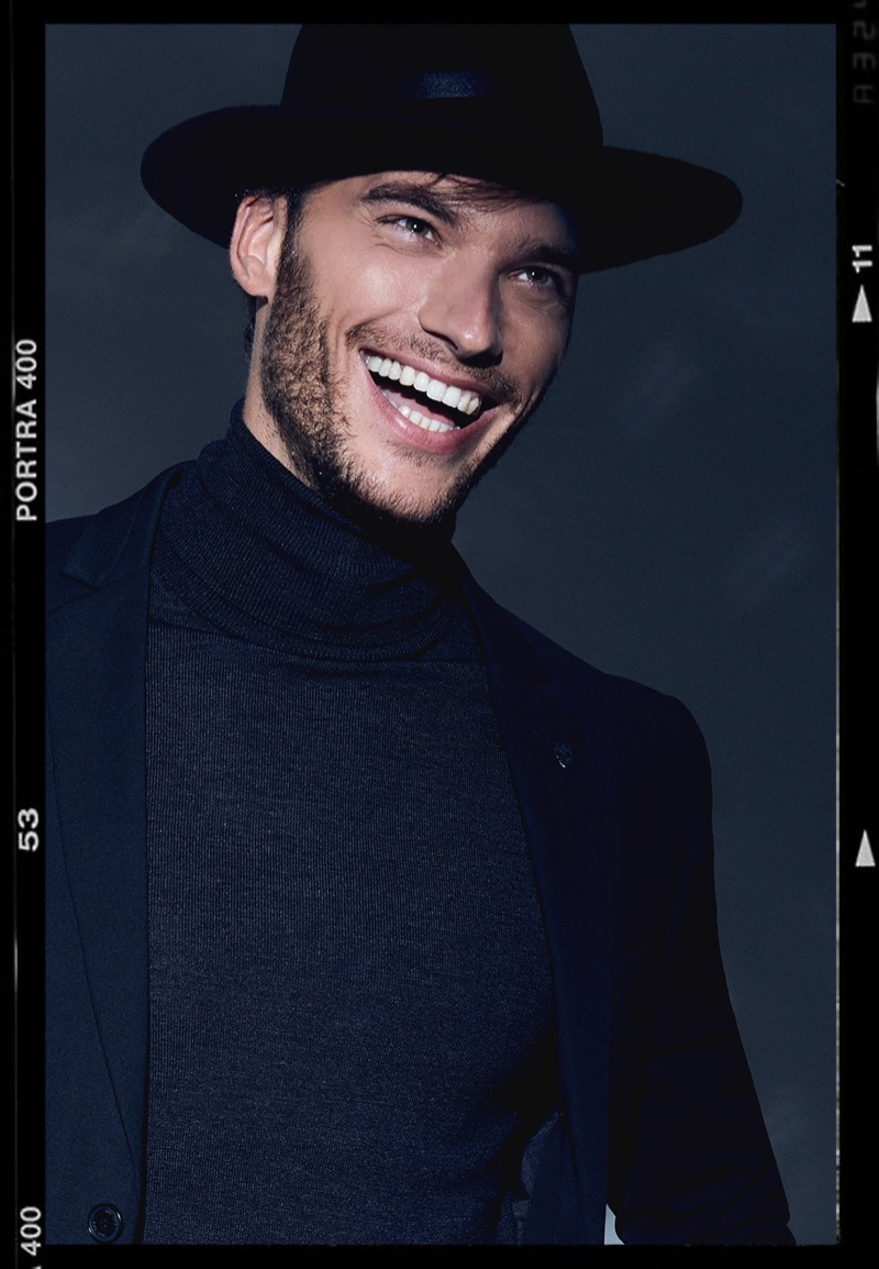 All smiles, Aurelien Muller rocks a party look from IKKS.