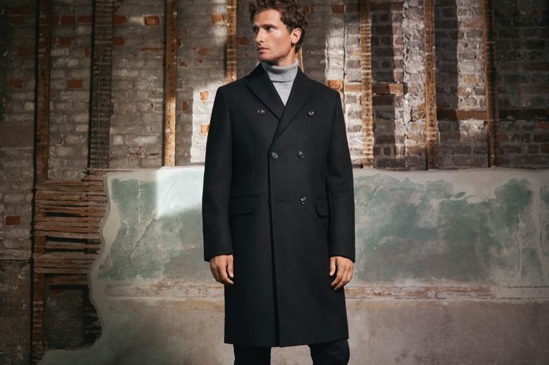 British model Tom Warren stars in Jaeger's fall-winter 2019 campaign.
