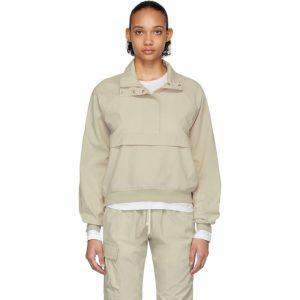 John Elliott Beige Cotton Sail Pullover Jacket