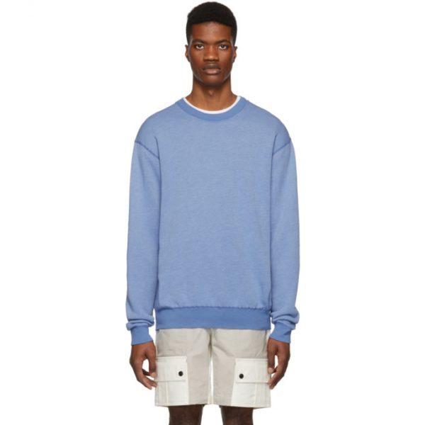 John Elliott Blue Vintage Crewneck Sweatshirt
