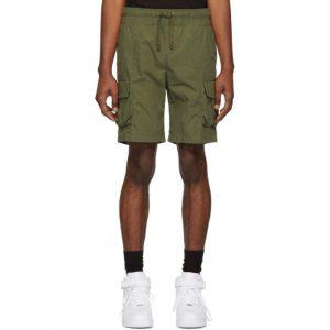 John Elliott Green Military Cargo Shorts
