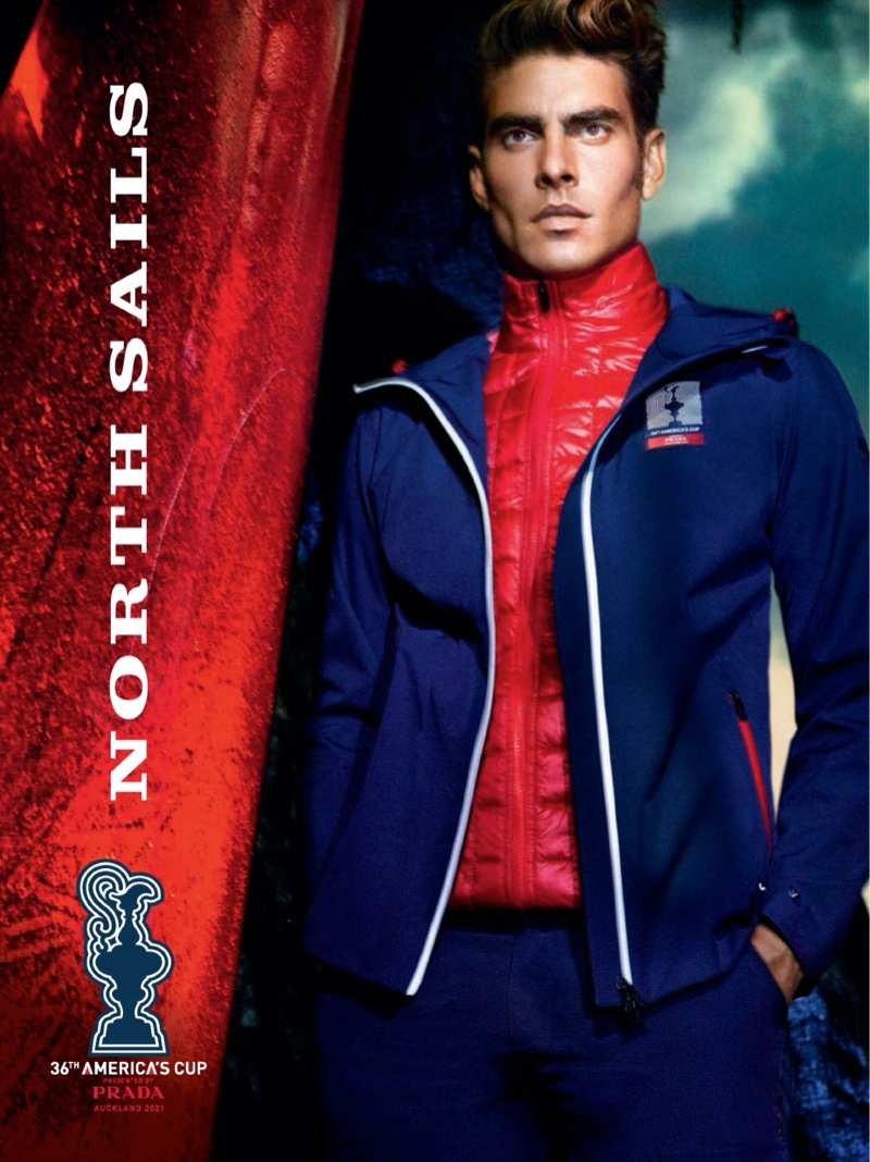 Jon Kortajarena goes sporty for the official campaign for the 36th America's Cup as presented by Prada.