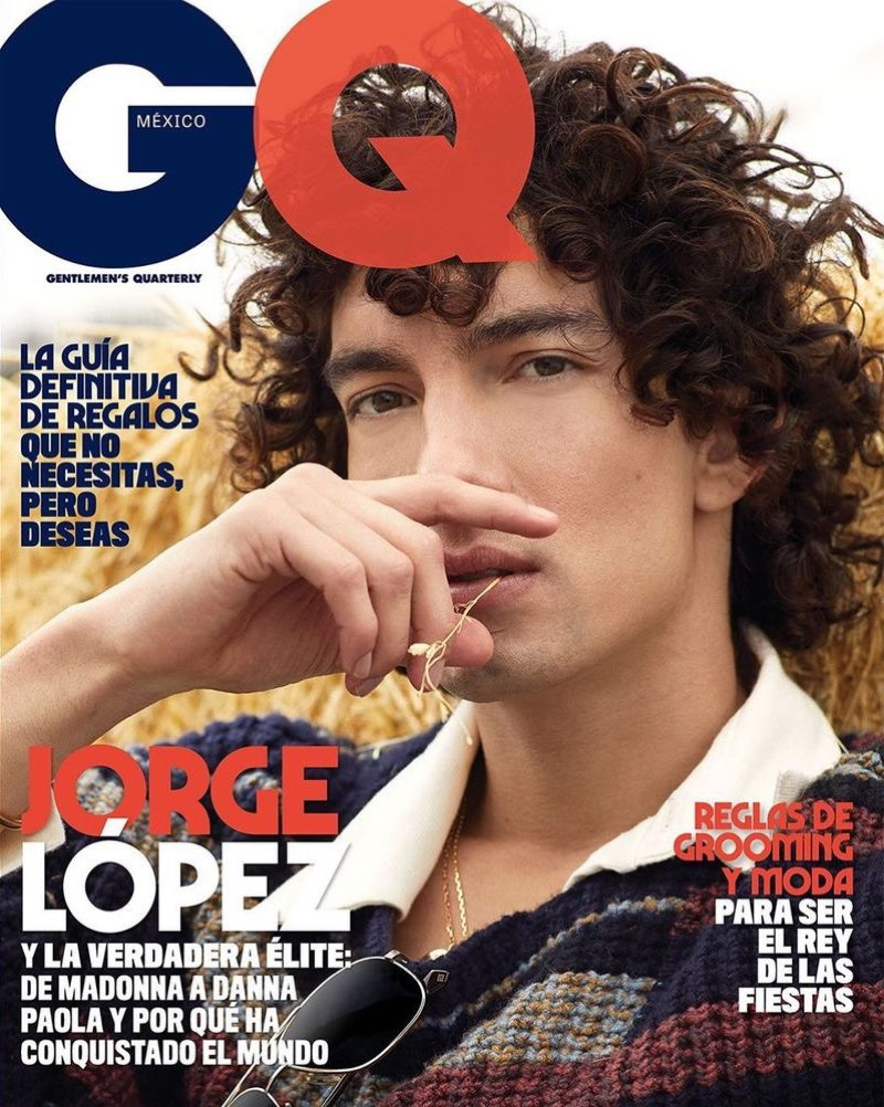 Jorge López covers the December 2019/January 2020 issue of GQ México.