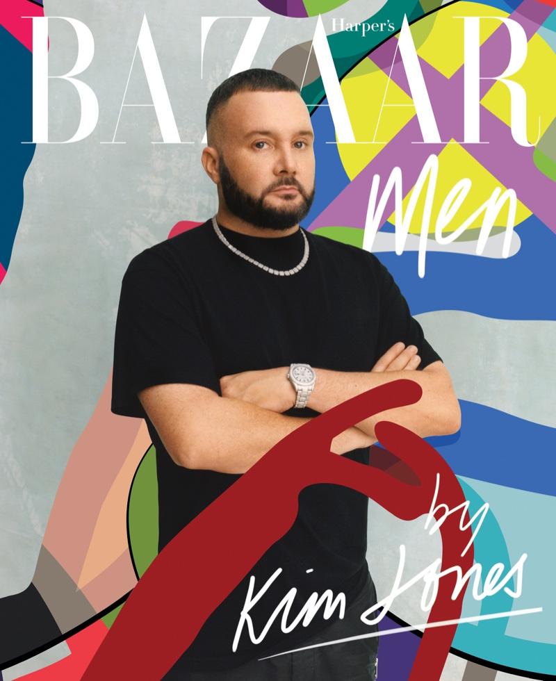 Kim Jones covers Harper's Bazaar Men.