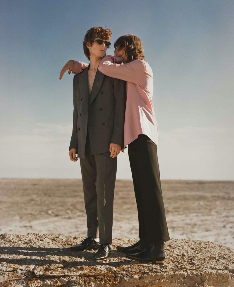 Louis, Stevan & Aiden Channel Rock Style for L'Officiel Hommes México