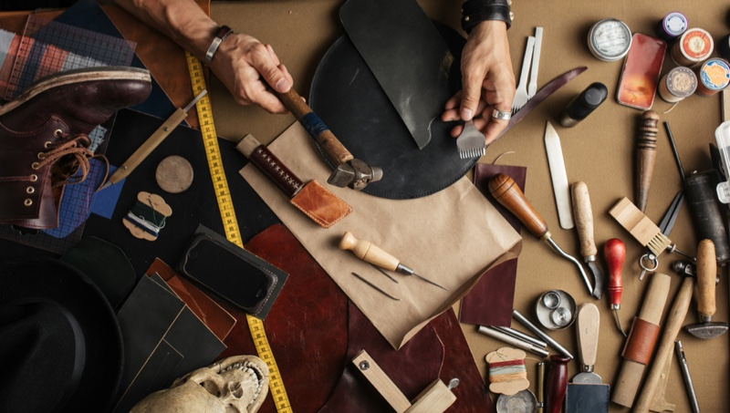 Leather Maker Tools Table