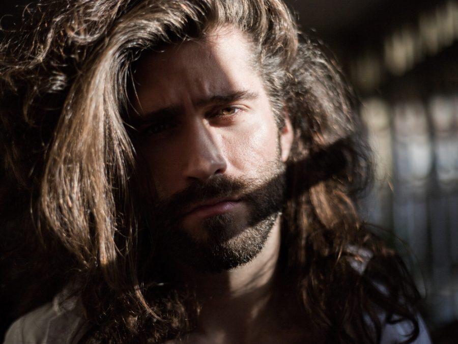Male Model Long Hair