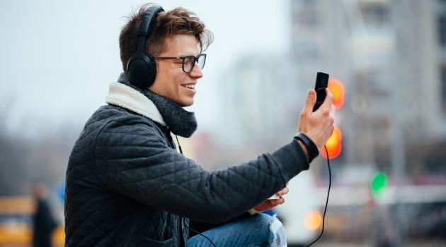 Man on Phone Glasses Filming