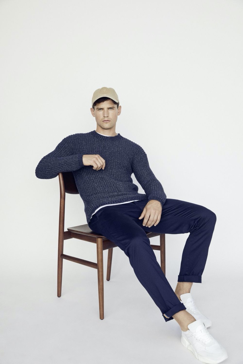 Guy Robinson sports a spring-summer 2020 look from Marc O'Polo.