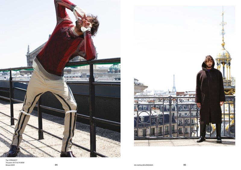 Marlon Teixeira Takes to Parisian Rooftop for Glass Man