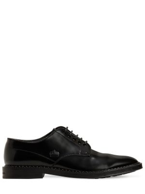 Marsala Leather Lace-up Shoes