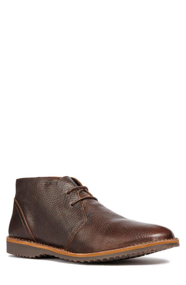 Men's Geox Zal 8 Water Resistant Chukka Boot, Size 10.5US / 43.5EU - Brown