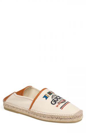 Men's Gucci Alejandro Worldwide Convertible Espadrille Flat, Size 8US / 7UK - Brown