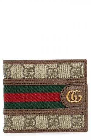 Men's Gucci Gg Supreme Canvas Wallet - Brown