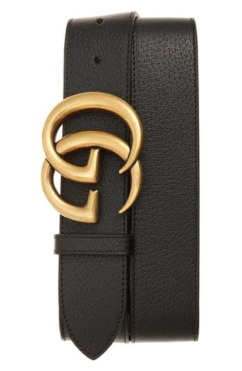 Men's Gucci Marmont Logo Leather Belt