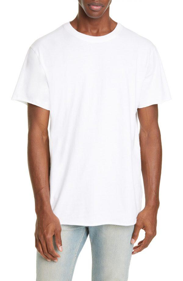 Men's John Elliott Anti Expo Raw Edge T-Shirt, Size X-Large - White