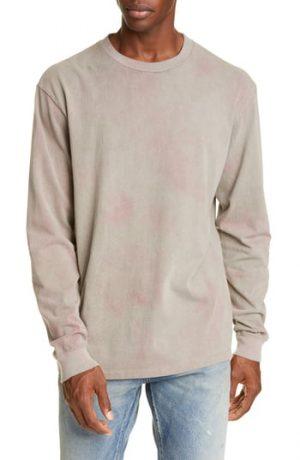 Men's John Elliott Double Dye Long Sleeve Oversize University T-Shirt, Size Large - Grey