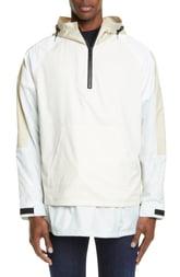 Men's John Elliott Quarter Zip Sailing Jacket, Size X-Large - Beige