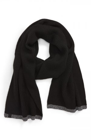 Men's Rag & Bone Ace Cashmere Scarf, Size One Size - Black