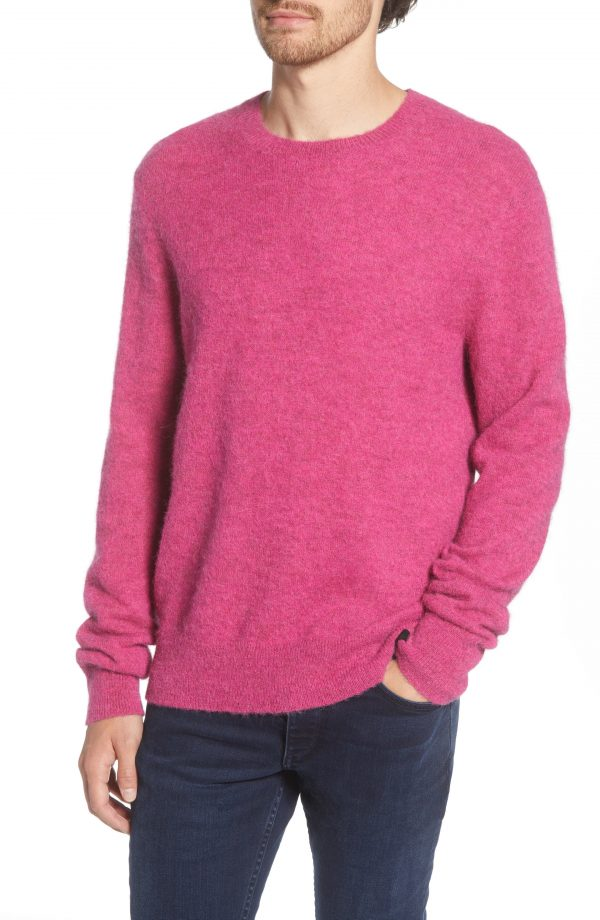Men's Rag & Bone Arnie Slim Fit Crewneck Wool Blend Sweater, Size Small - Pink