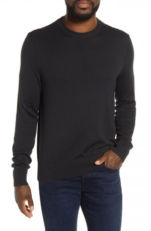 Men's Rag & Bone Barrow Colorblock Sweater, Size Small - Black