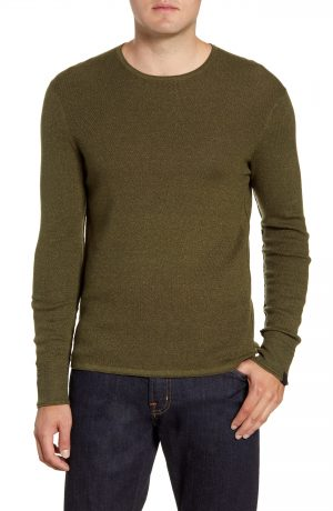 Men's Rag & Bone Davis Slim Fit Crewneck Sweater, Size Large - Green