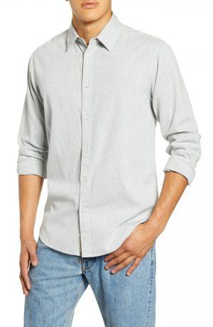 Men's Rag & Bone Fit 3 Button-Up Flannel Shirt, Size Small - Blue