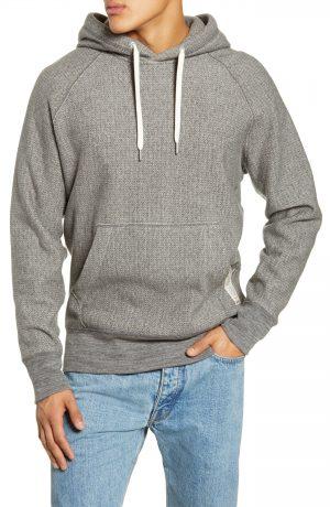 Men's Rag & Bone Herringbone Racer Hooded Sweatshirt, Size Medium - Grey