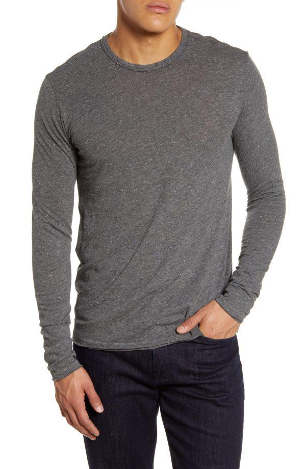 Men's Rag & Bone Lincoln Long Sleeve Slim Fit T-Shirt, Size Small - Grey