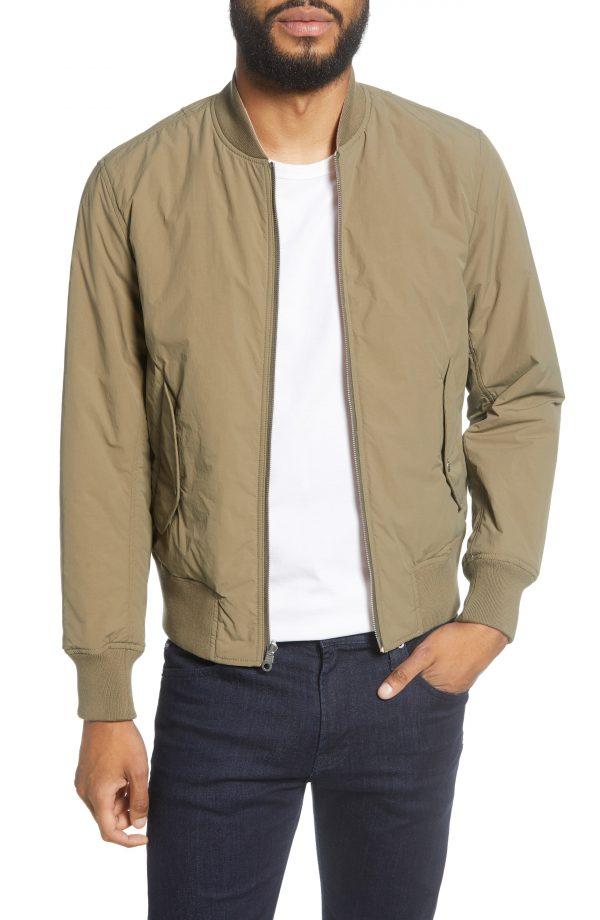 Men's Rag & Bone Manston Slim Fit Reversible Bomber Jacket, Size Small - Green