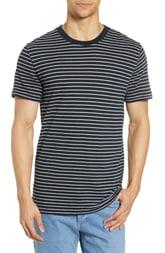 Men's Rag & Bone Railroad Slim Fit Stripe T-Shirt, Size XX-Large - Blue