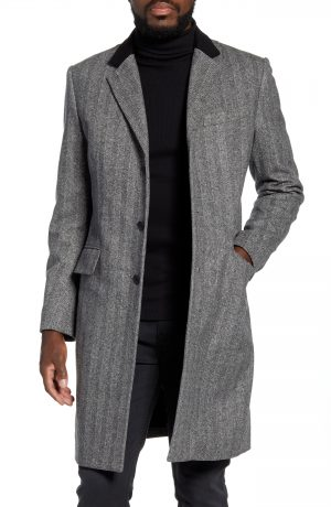 Men's Rag & Bone Rory Classic Fit Wool Blend Coat, Size 38 - Black