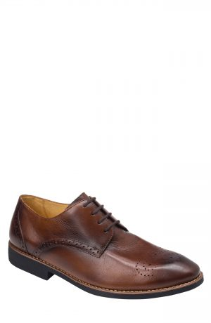 Men's Sandro Moscoloni Mended Medallion Toe Derby, Size 8.5 D - Brown