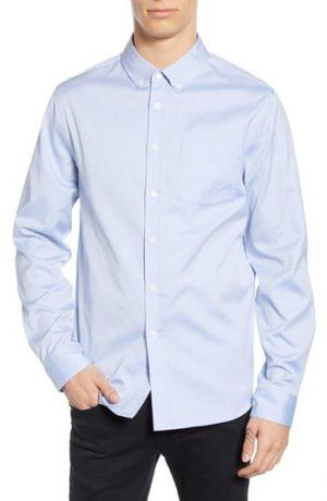Men's Saturdays Nyc Crosby Oxford Shirt, Size Small - Blue