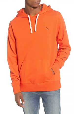 Men's Saturdays Nyc Ditch Embroidered Slash Hooded Sweatshirt, Size Small - Orange
