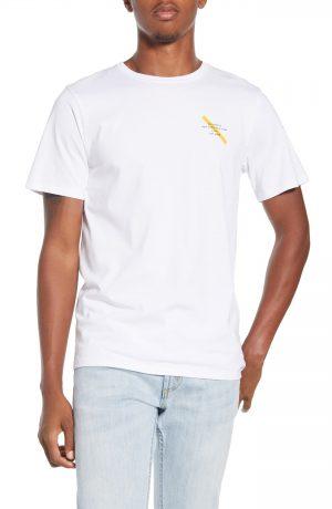 Men's Saturdays Nyc Gotham Slash Logo T-Shirt, Size Small - White
