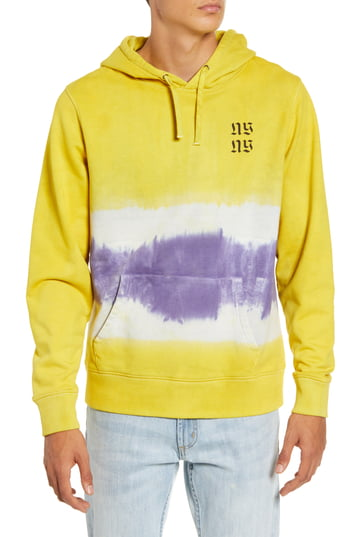 Men's Saturdays Nyc Tower Exclusive Hooded Sweatshirt, Size Large - Yellow