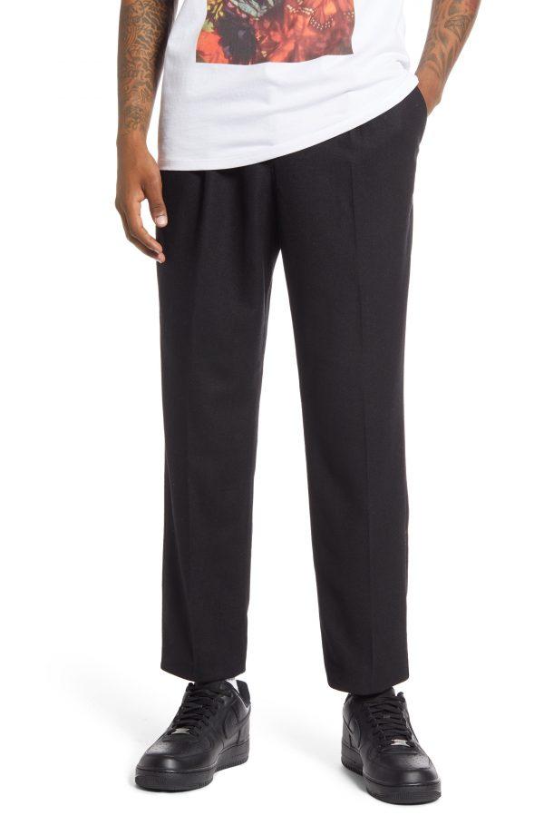 Men's Saturdays Nyc Varick Wool Blend Pants, Size Small - Black
