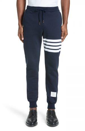 Men's Thom Browne Stripe Jogger Pants, Size 1 - Blue